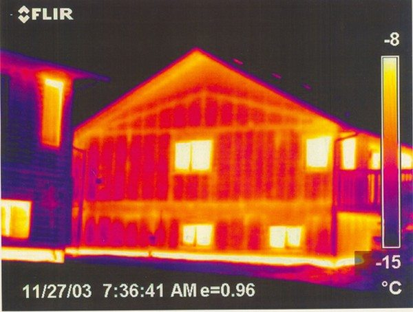 Thermal bridging on a timber framed house