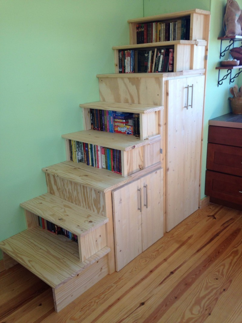 Our stairs double as serious storage units