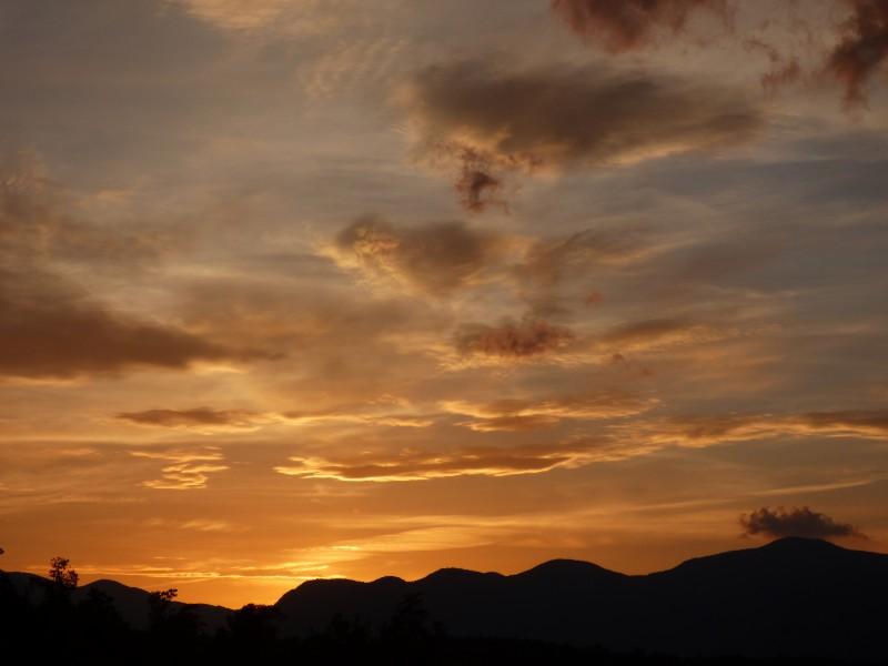 Sunset over Chimney Rock State Park