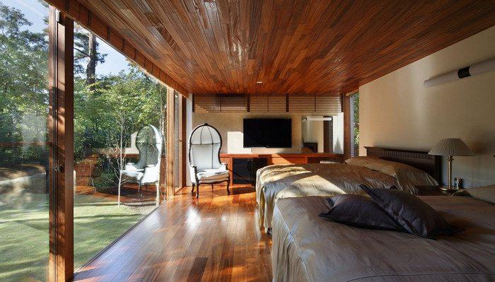 A guest house hidden deep in a forest