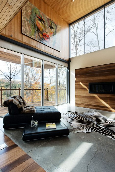 A modular home in the Laurentians by IME Habitat