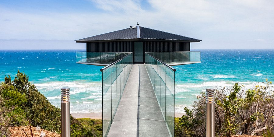 Pole House floats above The Great Ocean Road