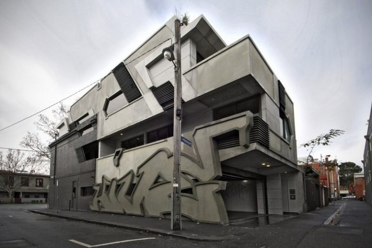 The Hive Apartments – street art in concrete