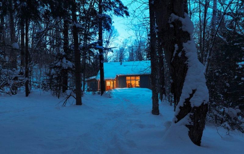 Winter Cabin in Vermont