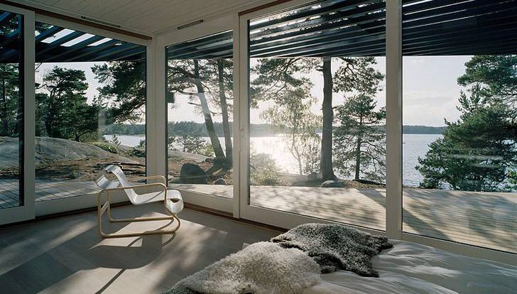 The master bedroom with a wonderful landscape to greet you in the morning.