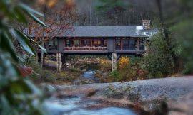 Bridge House: Home Across A Stream
