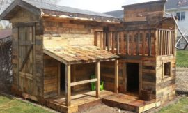 And the fourth little piggy built his home from pallets!