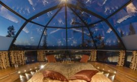 Marvel at the northern lights in one of these glass igloos in Finland