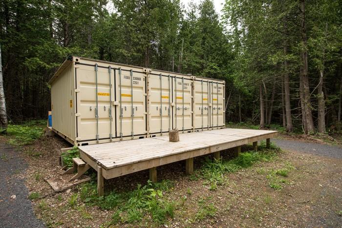 Joseph Dupuis Shipping Container Cabin
