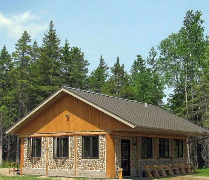 One building technique with many names house hunting for Cordwood house cost