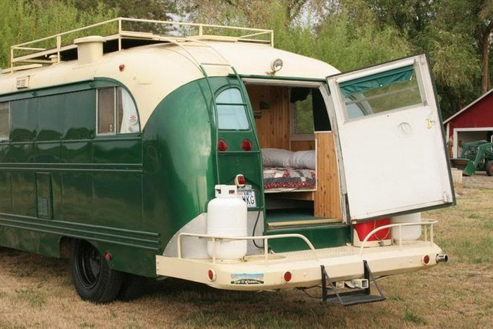 1959 Chevrolet Viking short bus converted into a camper! | House Hunting