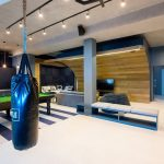 The ultimate man cave featuring a skate bowl by Inhouse