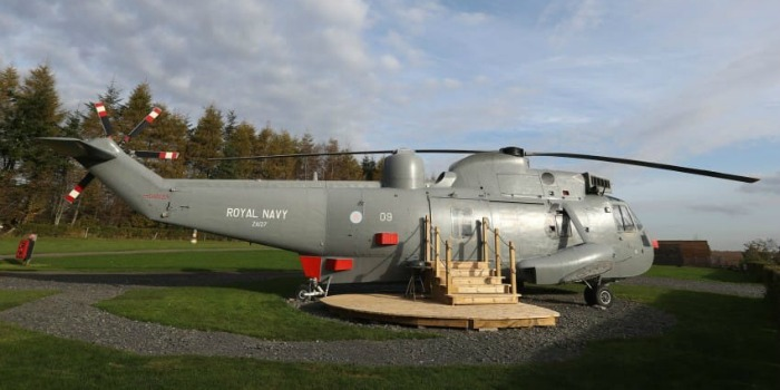 Search and rescue helicopter holiday home