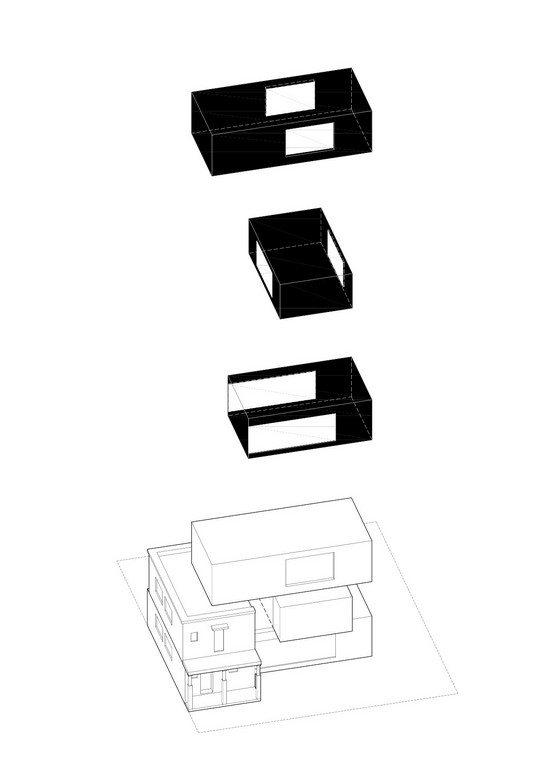The 'shoe boxes' make a house!