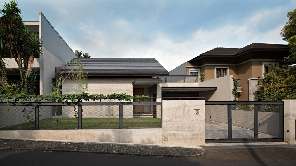 Hikari House looks masculine from the outside.