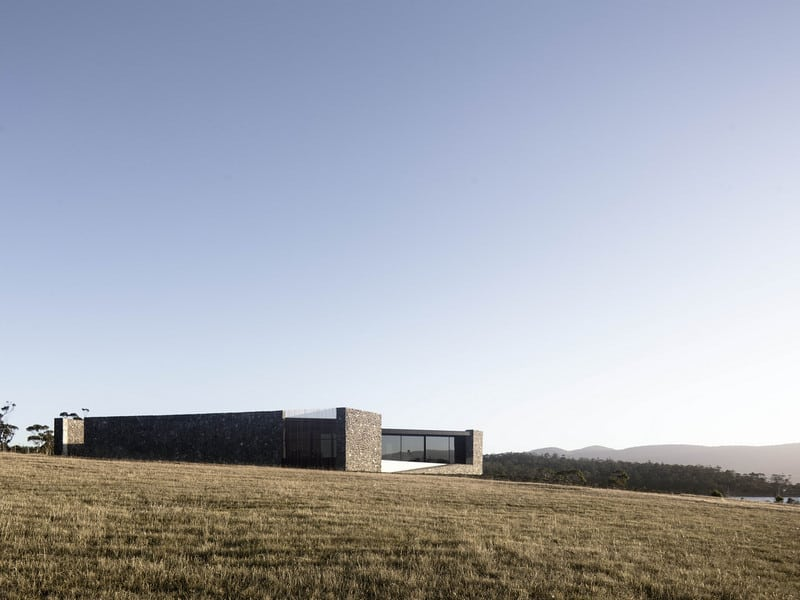 The minimalist D'Entrecasteaux House blends well with the surrounding landscape.