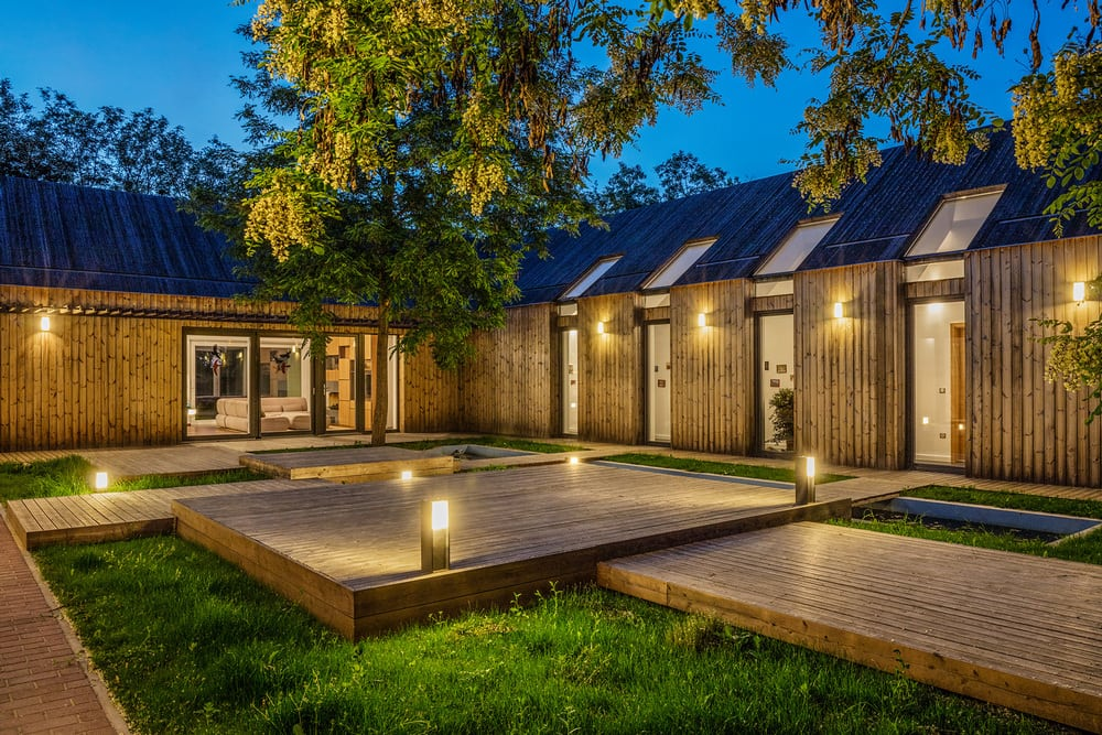 The Wooden House's enclosed courtyard is perfect for quiet days and nights.