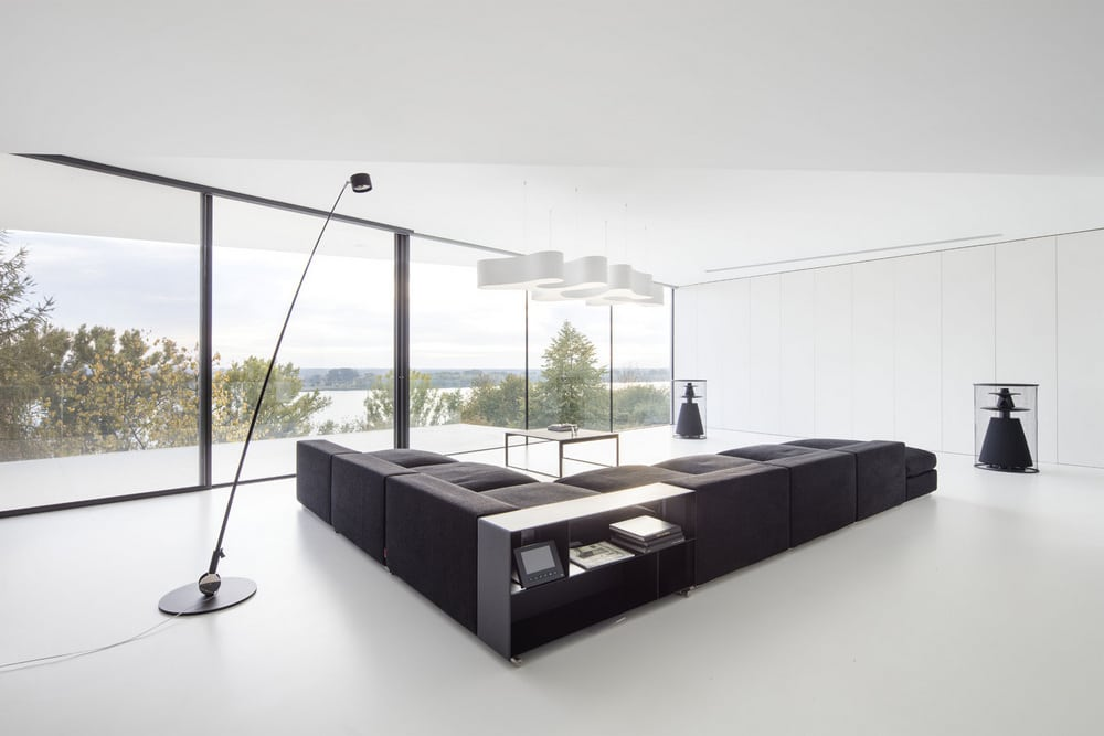 The house boasts of modern and chic interiors with stunning views all around.