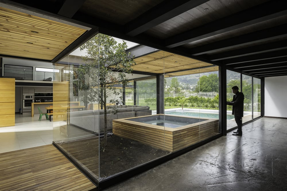Strategically-placed openings allow unrestricted views of the outdoors.