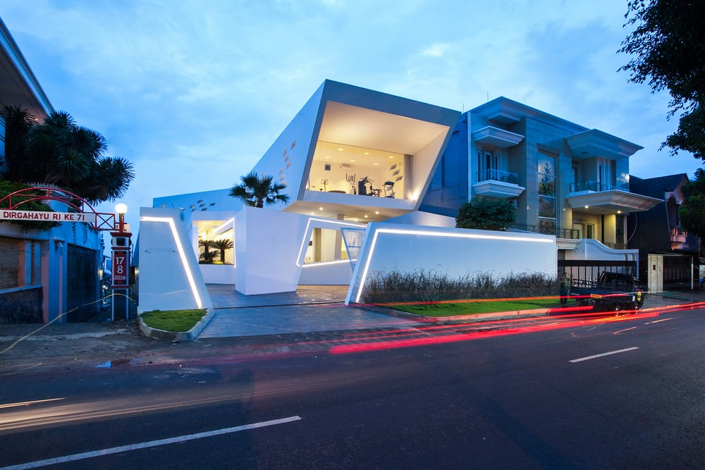 Sleek and modern, the home's visual appeal is seen right off the bat.