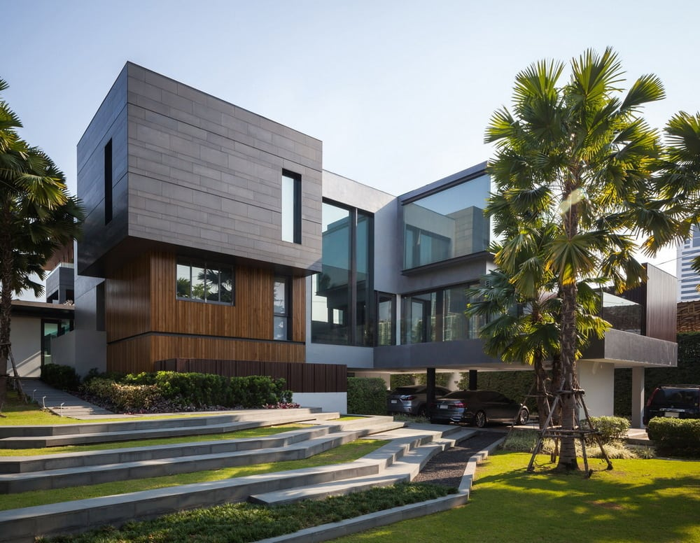 Huge and modern, OKS Casa is a luxurious home in the heart of Thailand.