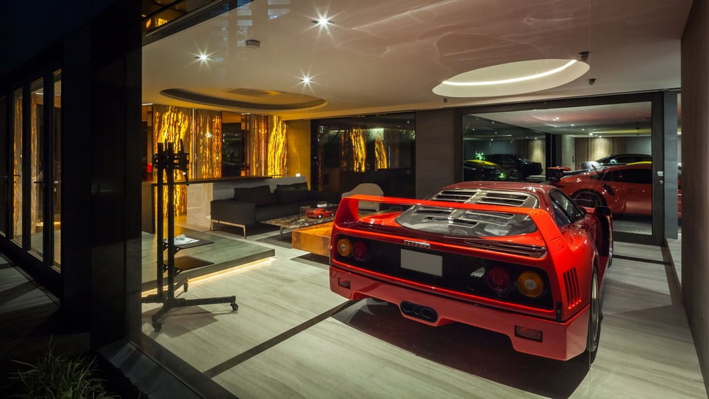 One of the most notable features of the home is the Supercar Gallery.