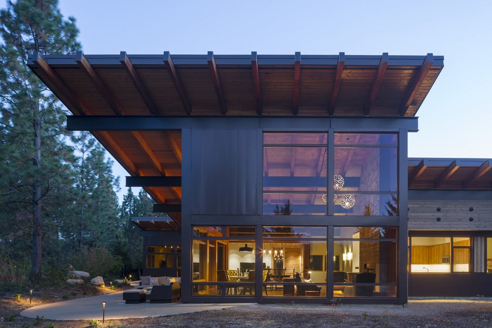 "Tumble Creek Cabin is a ""net-zero"" home that provides warm and comfortable living spaces."