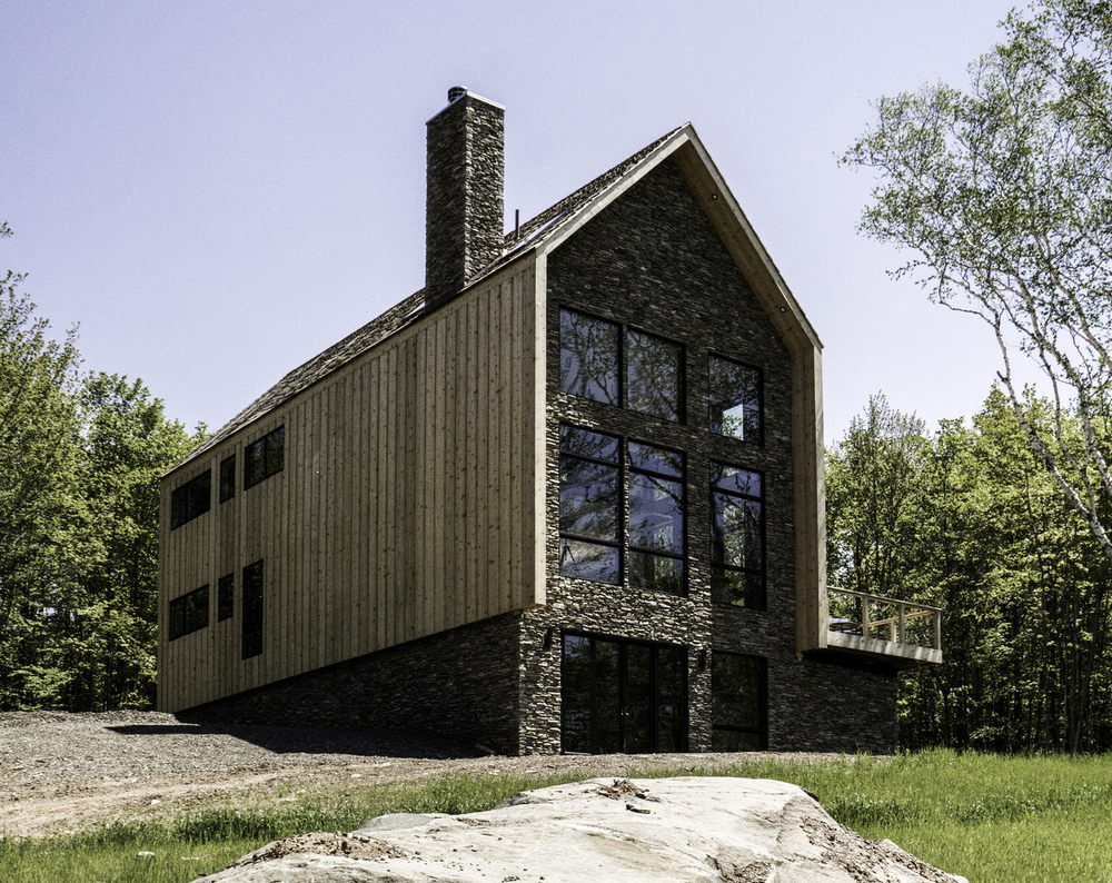Cedar and Stone House is a charming residence set amidst an idyllic location.
